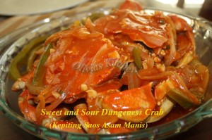 sweet and sour dungeness crab