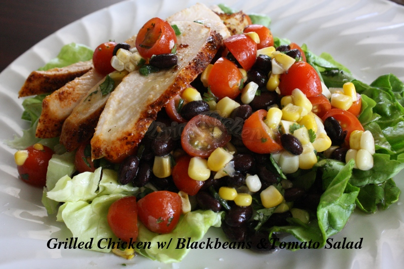 Chicken Salad with Black Beans and Tomatoes ( Southwestern Salad ...