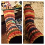 knit sock process