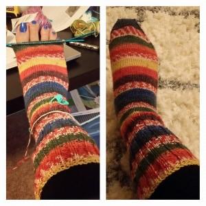 knit sock process